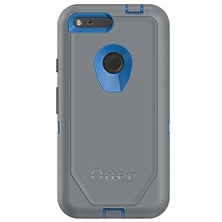 "OtterBox Defender Series Case for Google Pixel XL (5.5"" Version ONLY) - Retail Packaging - MARTHONER (Cowabunga Blue/Gunmetal Grey)"