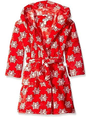Hatley Fleece Robe-Pretty Snowflakes, Vestido para Niños