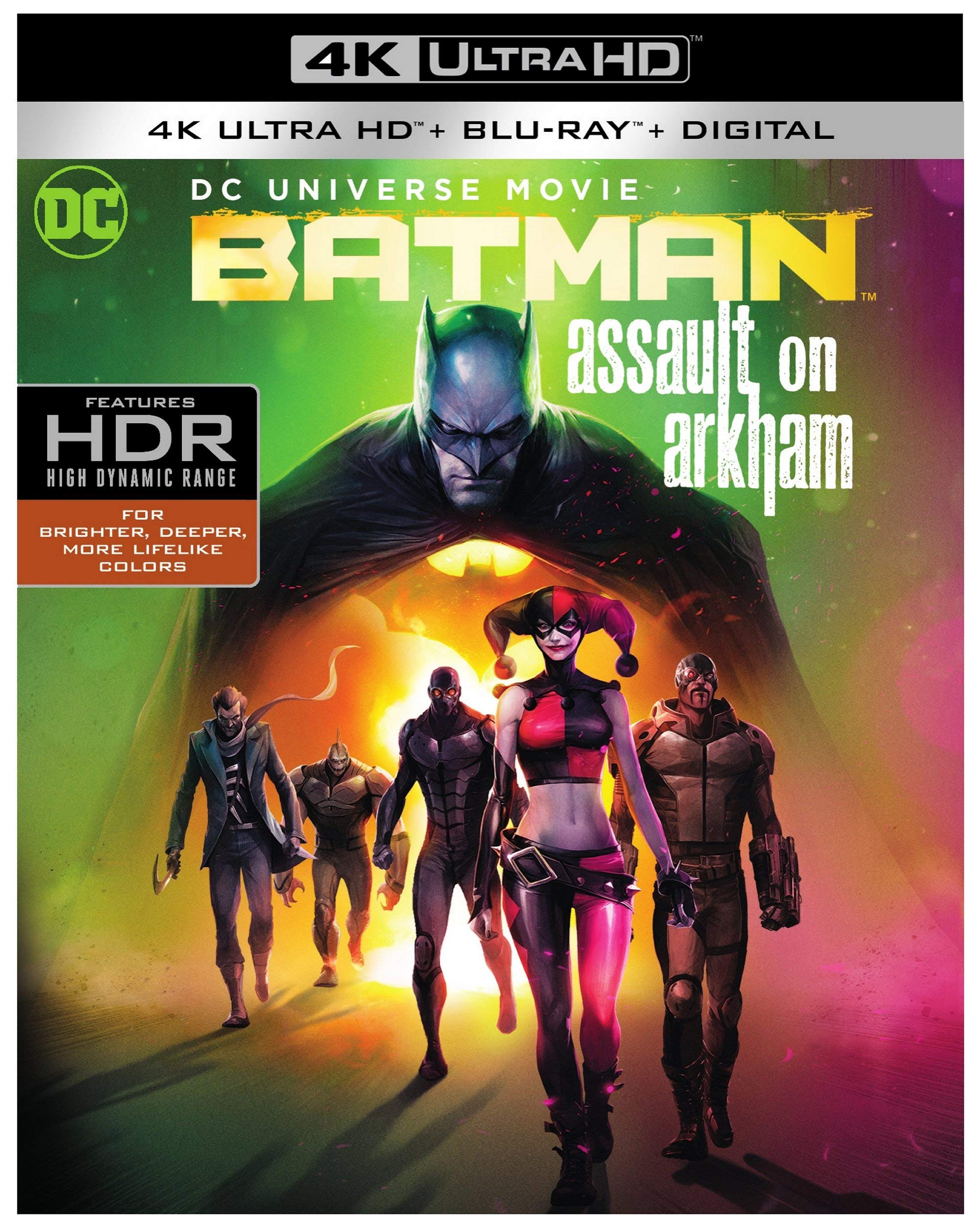 4K Blu-ray : Batman: Assault On Arkham (Black, With Blu-ray, 4K Mastering, 2 Pack, Digital Copy)