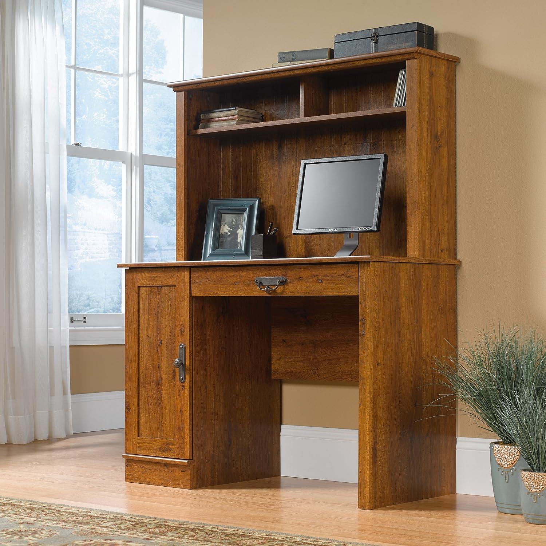 Sauder 404961 Harvest Mill Computer Desk with Hutch, L 43.47 x W 19.45 x H 56.30 , Abbey Oak finish