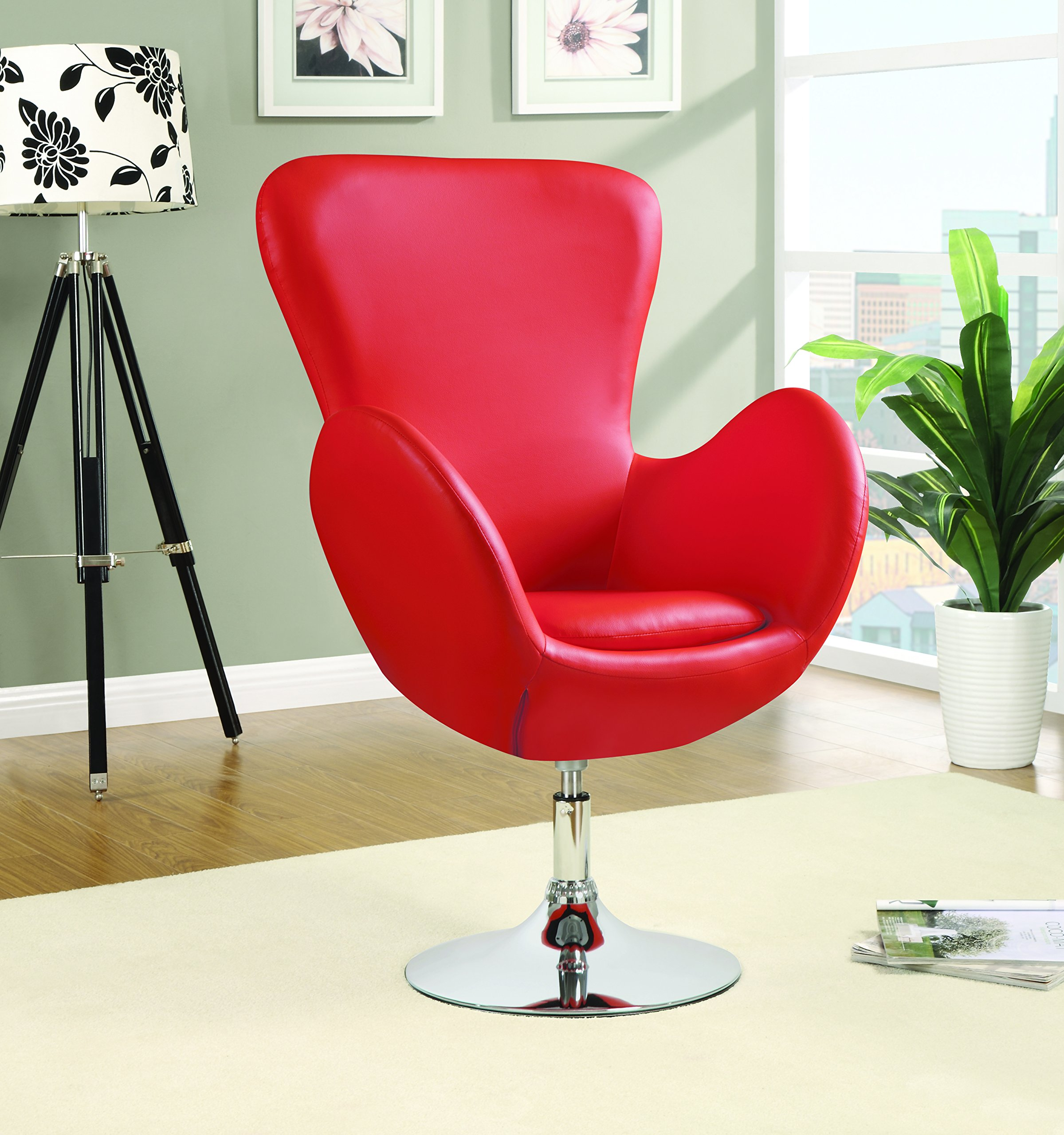 Coaster Home Furnishings 902101 Leisure Swivel Chair, Red