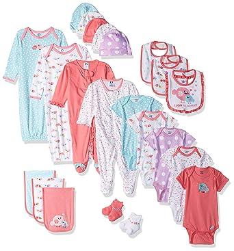 63dacfbc2 Gerber Baby Girls' 26-Piece Essentials Gift Set, Little Birdie, Newborn