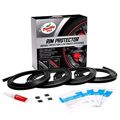Turtle Wax 50699 Premium Rim Protector, Black (Pack of 4): Automotive