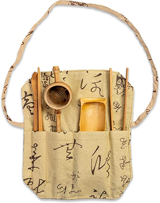 4 Piece Bamboo Matcha Tea Scoop Spoon Chinese Gongfu Tea Ceremony Tools