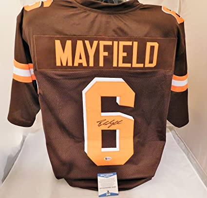 a720aa366 Image Unavailable. Image not available for. Color  Baker Mayfield  Signed Autographed Cleveland Browns Authentic Style Jersey ...
