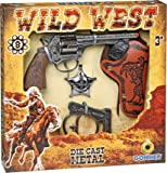 GONHER 37-157 - Pistola 8 Tiros Cartuchera Esposas Y Estrella Caja 28X28