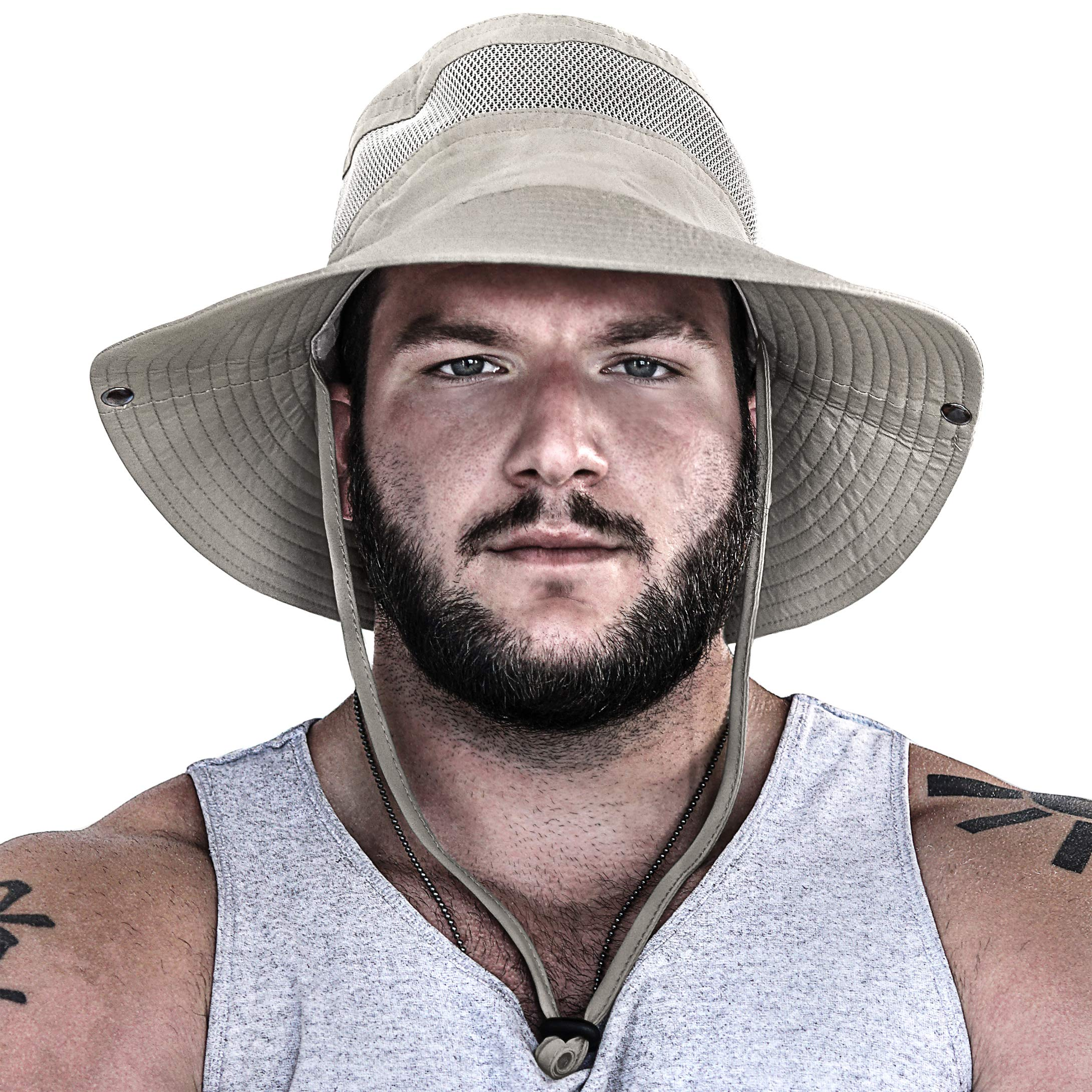 GearTOP Sun Hats for Women and Men | This Summer Cap is Your Best Choice for Sun Protection (Beige Fishing Hat) by GearTOP (Image #2)