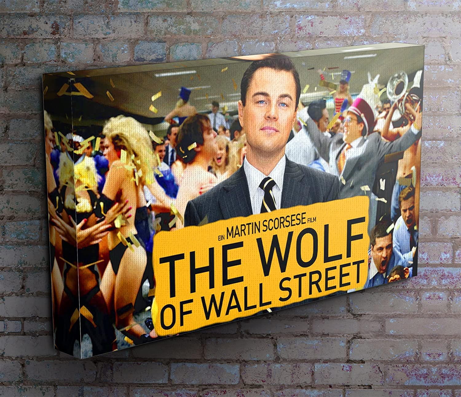 The Wolf of Wall Street Panoramic Movie Canvas Print Picture 50 x 20 ...