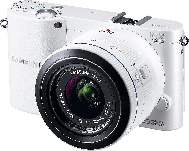 Samsung Cámara Nx1000 + Objetivo Nx 20-50 Mm Blanca: Amazon.es ...
