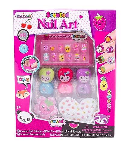 Amazon Hot Focus Scented Nail Art Kit Fruit Girls Nail Kit