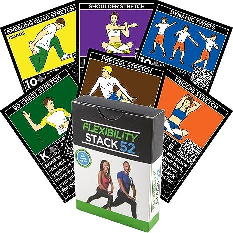 Tarjetas de ejercicios de flexibilidad por Stack 52: Amazon ...