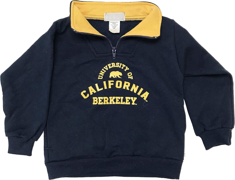 Bag2School University of California UC Berkeley Boys Youth Quarter Zip Pullover Fleece Sweater