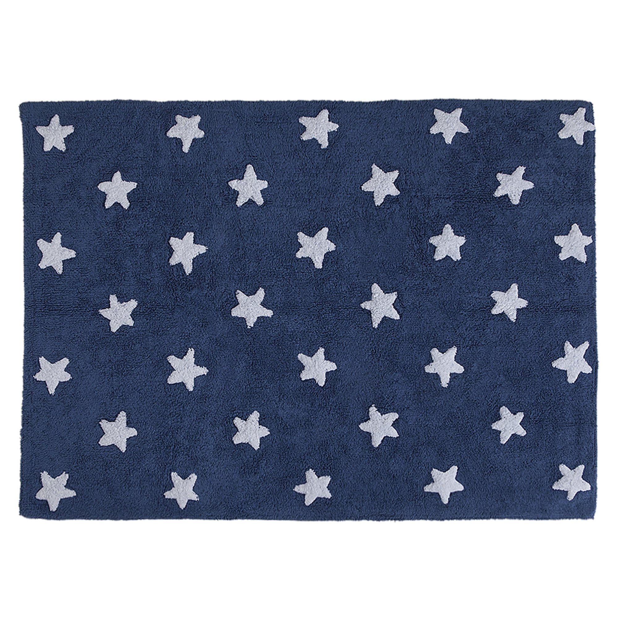 Lorena Canals Stars Machine Washable Kids Rug, 4 x 5 Feet, Handmade From 100% Natural Cotton and Non-Toxic Dyes, Perfect for Nursery, Baby, Playroom, or Childrens Rooms, Works for Outdoor or Beach by Lorena Canals