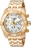 Invicta Men's 'JT' Quartz Stainless Steel Casual Watch, Color:Silver-Toned (Model: 24846)