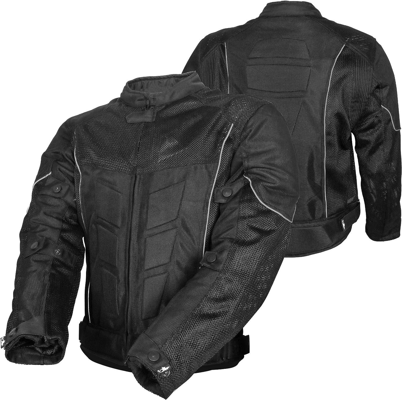 Mens White Textile Protective Motorcycle Motorbike Jacket Waterproof CE Armoured NEW BEST SELLING ITEM Black, Medium