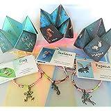 Smiling Wisdom - Totem Spirit Animal Pegasus, Seahorse, Frog Friendship Jeweled Charm Bracelets Gift Sets - Gifts for Children, Tweens, Teens - 3 Complete Gifts - Multicolored, Aqua Blue - Easter Gift