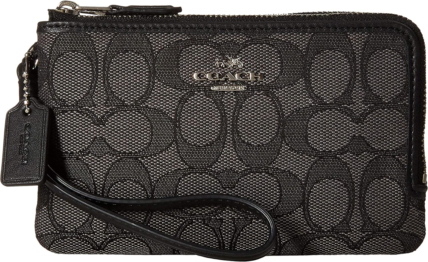 COACH Women's Signature Double Corner Zip Bag 55361-LIC7C