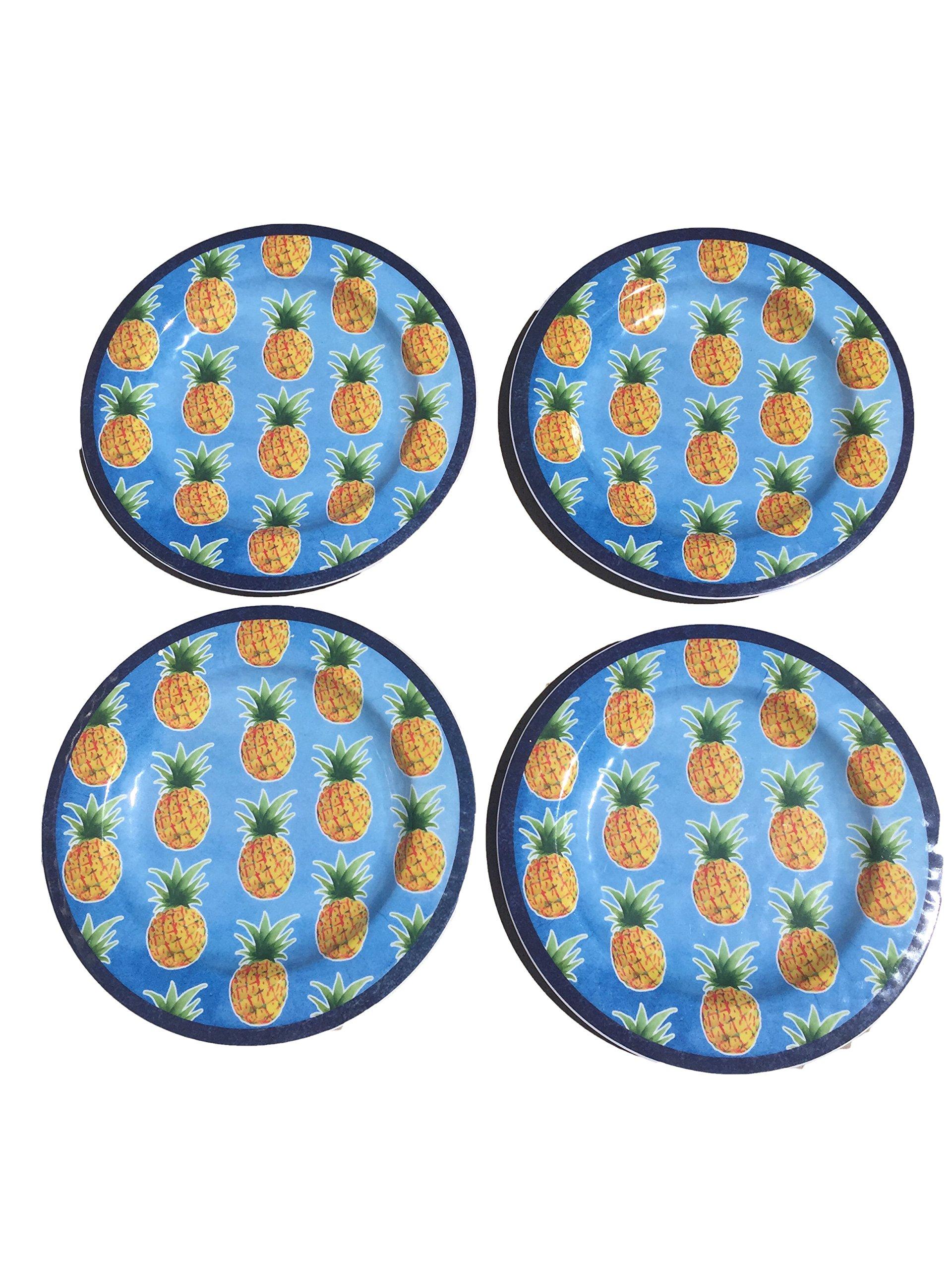 Summer Melamine Plate Set of 4 (Pineapple)