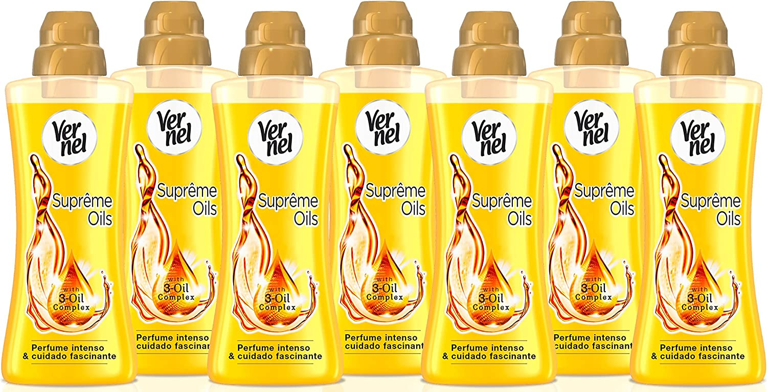 Vernel Supreme Oils Suavizante Concentrado - Pack de 7, 600 ml