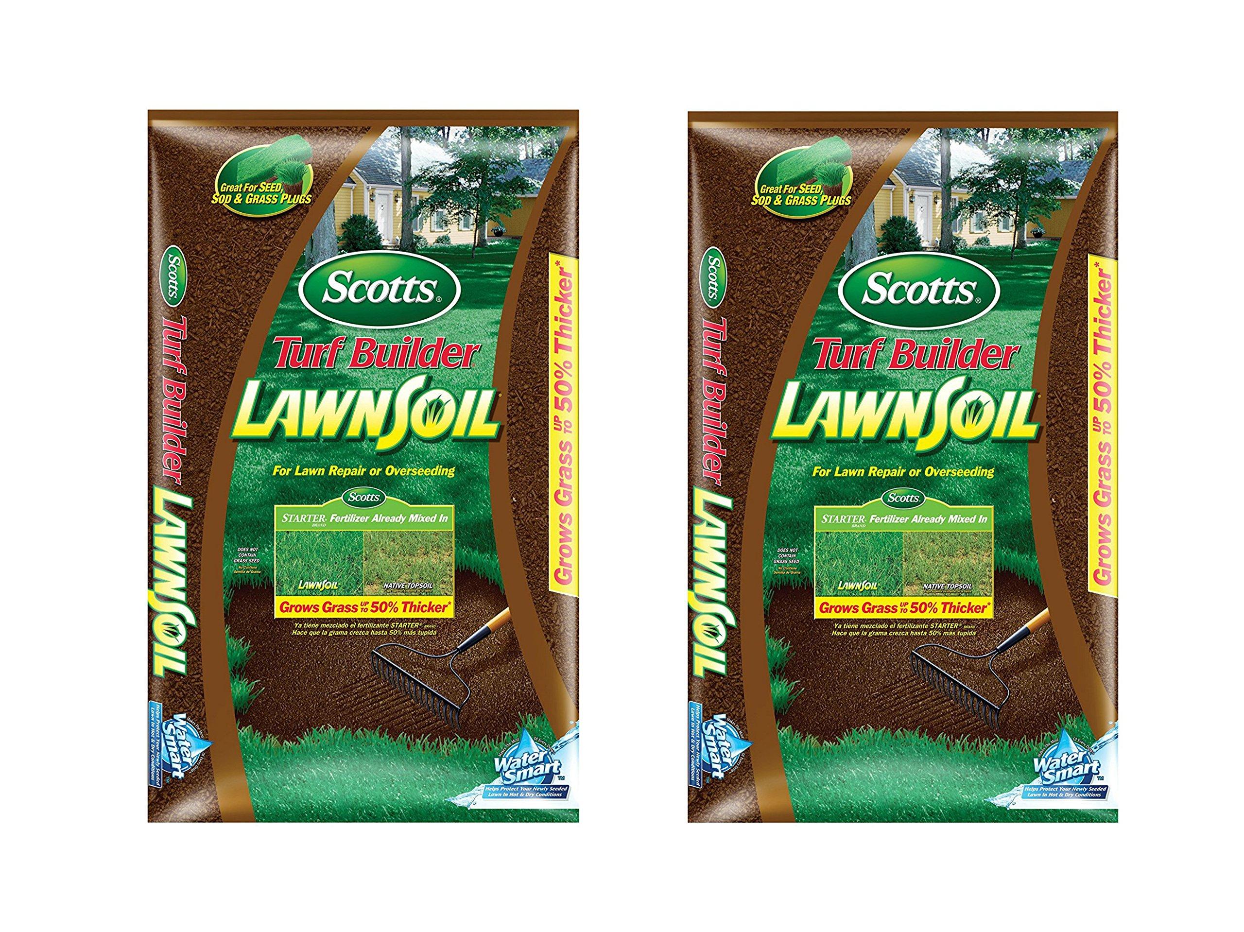 Scotts Turf Builder Lawn Soil, 1. 0-Cubic Foot (2) by Scotts