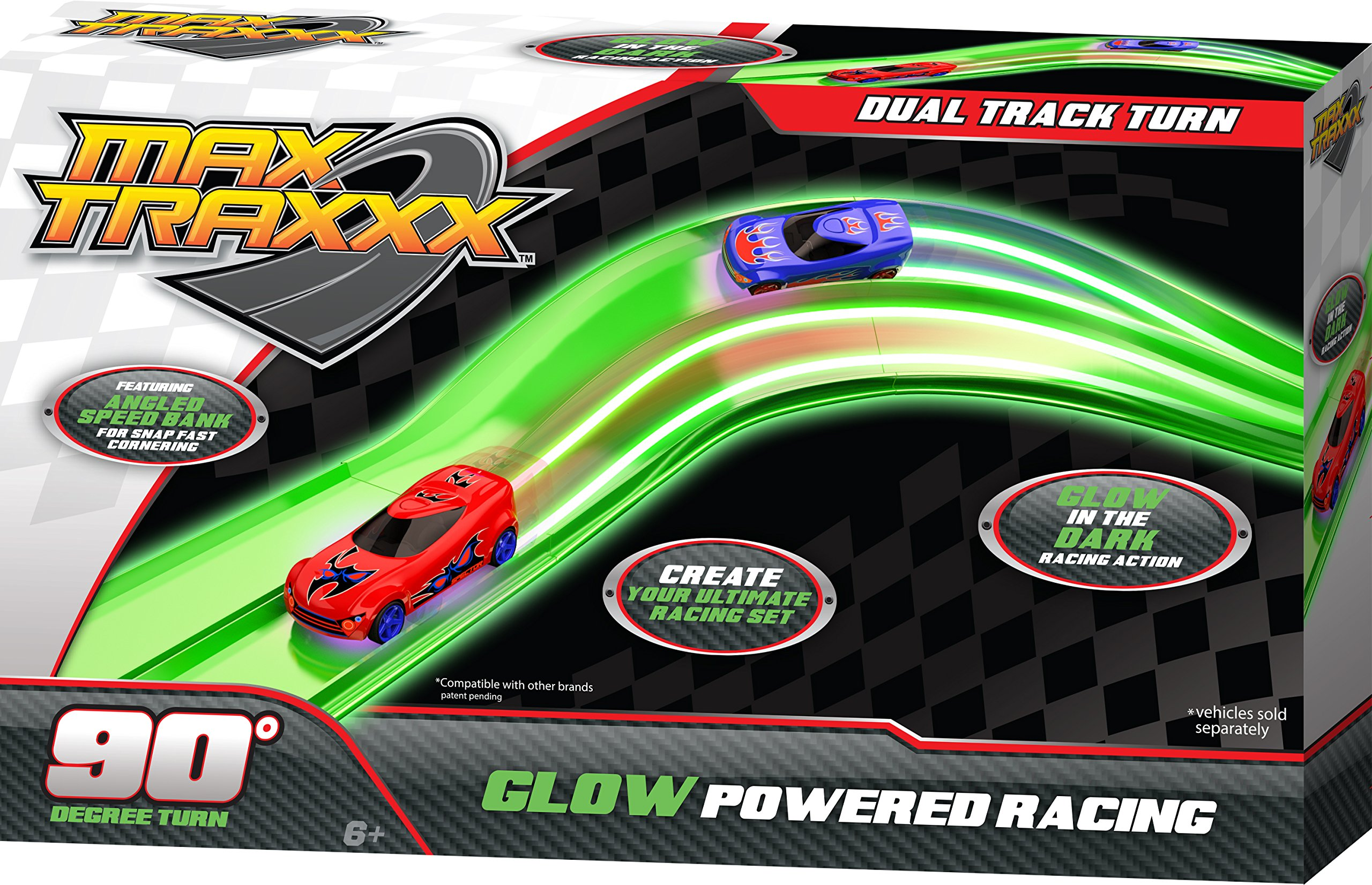 Max Traxxx Tracer Racers Dual Track Corner Add On Module for Gravity Drive and Remote Control Sets