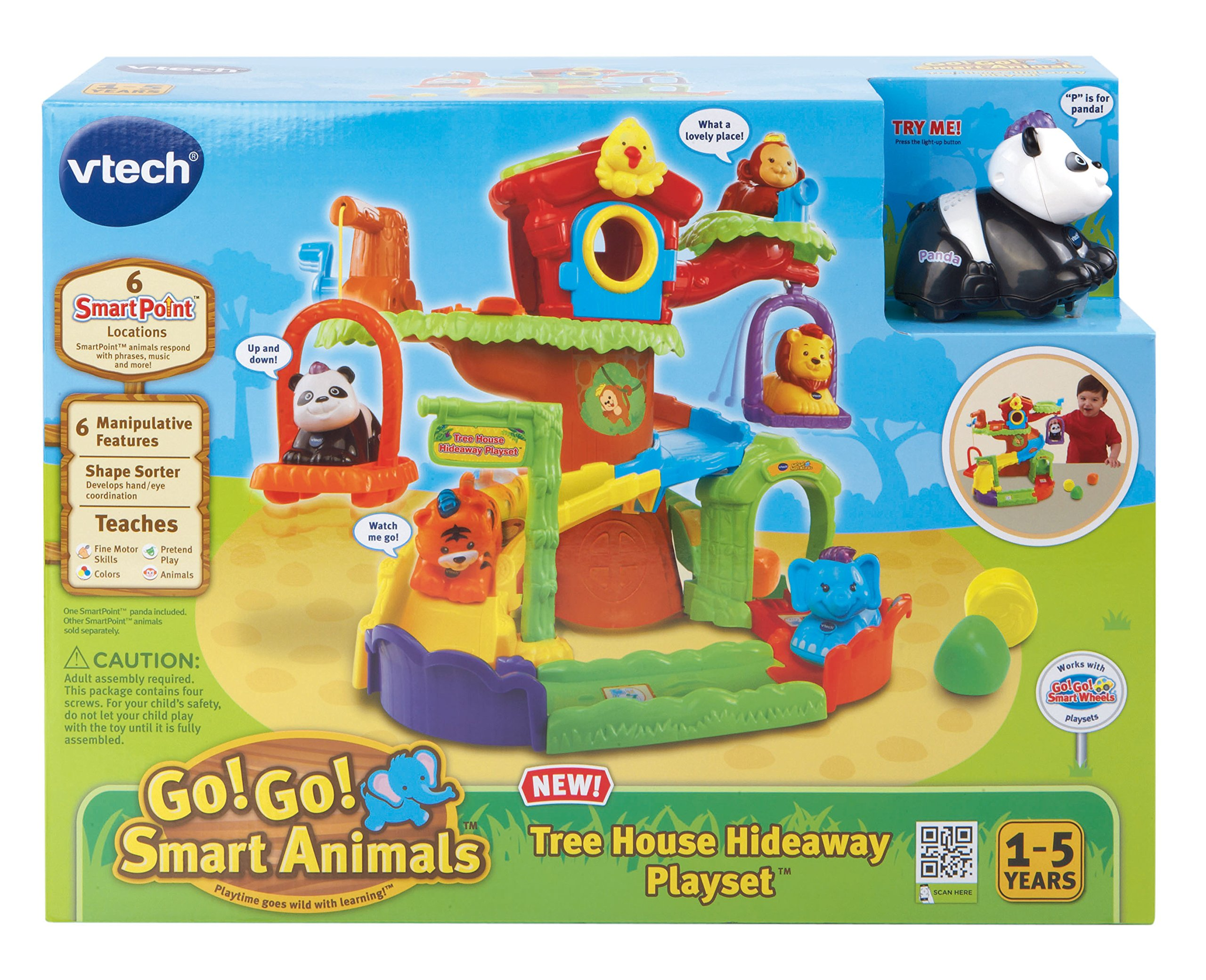VTech Go! Go! Smart Animals Tree House Hideaway Playset by VTech Go! Go! Smart Animals (Image #4)