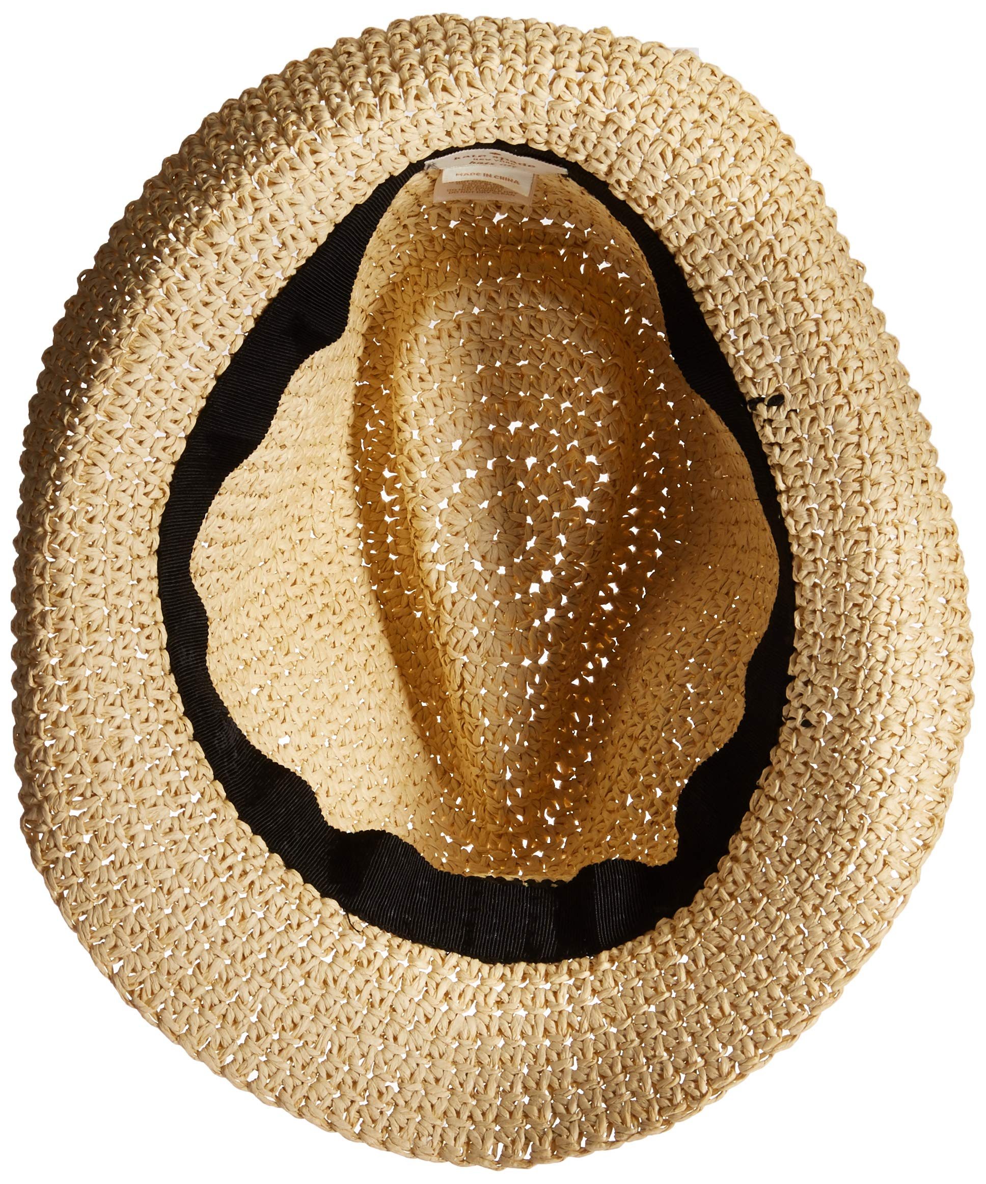 Kate Spade New York Women's Crochet Packable Fedora Natural/Black One Size by Kate Spade New York (Image #6)