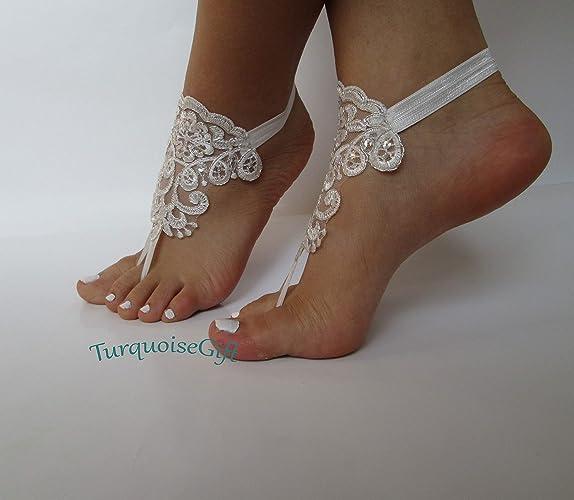 72010d5c0096 Amazon.com  Beach wedding barefoot sandals