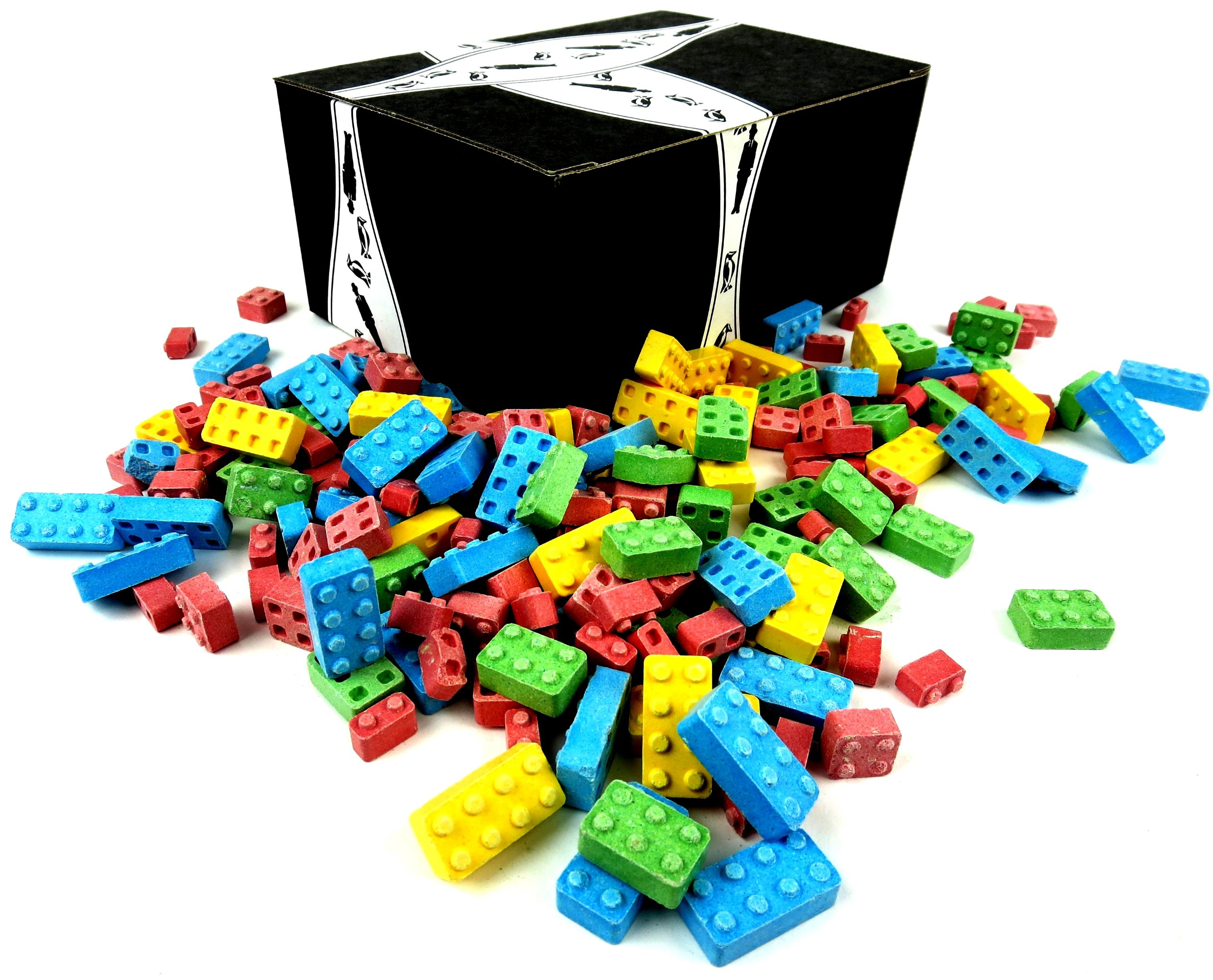 Cuckoo Luckoo Candy Blocks, 2 lb Bag in a BlackTie Box