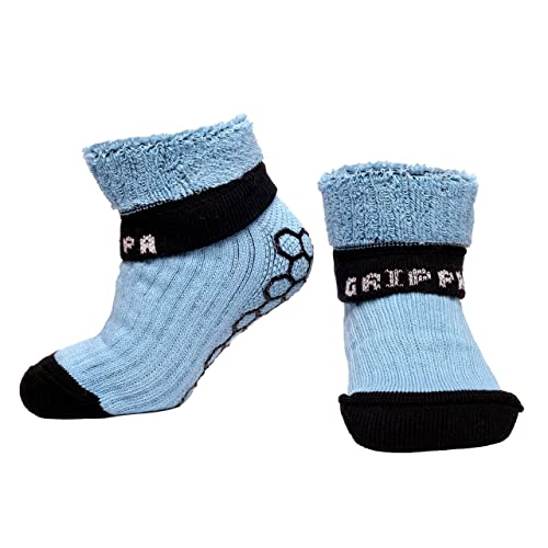 """""""GRIPPA"""" calcetines antideslizantes para niños con diseño de azul. Hechos en Gran"""