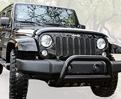 MaxMate Premium Black Bull Bar Bumper Brush Guard With Skid Plate With Skid  Plate Fits 2010