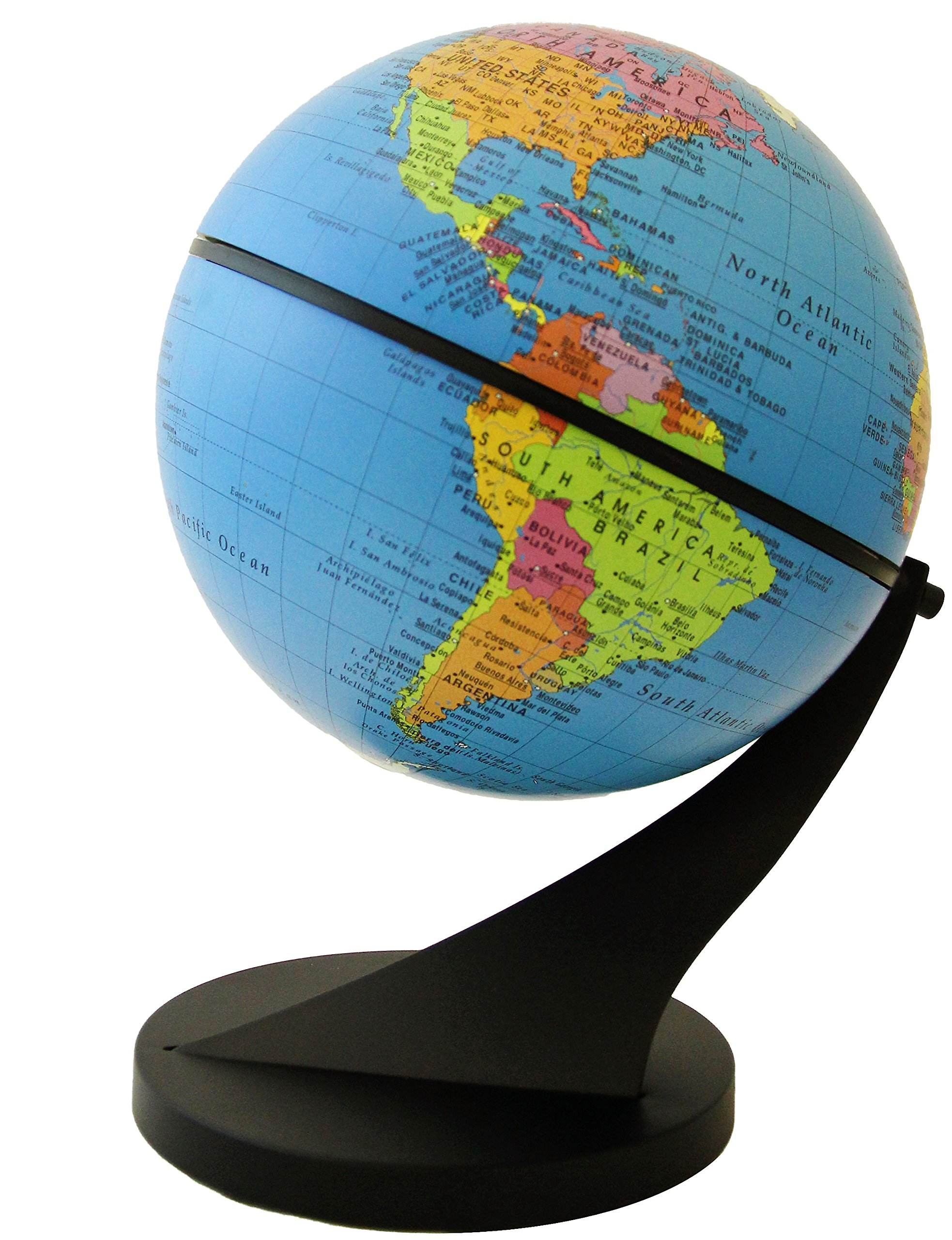 Stellanova Swivel and Tilt Globe - Interactive & Educational Children's Desktop Globe, Blue Ocean Political Map, Over 2,000 Place Names, Weighted Base (6''/15 cm diameter)