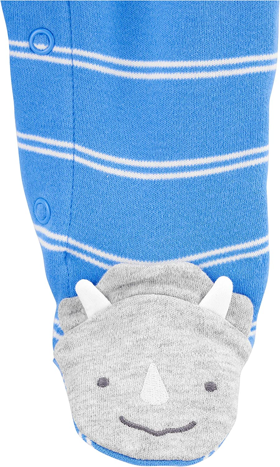 Simple Joys by Carters Boys 2-Pack Cotton Snap Footed Sleep and Play Newborn Blue Shark