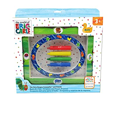 World of Eric Carle, The Very Hungry Caterpillar Create and Frame Bath Set & Crayons : Baby