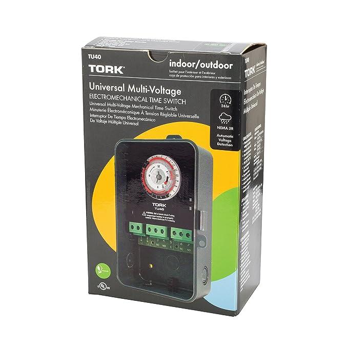 NSi Industries TORK TU40 Indoor/Outdoor 40-Amp Universal Multi-Volt Electromechanical Appliance Timer (4-(Pack)) - - Amazon.com
