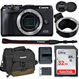 Canon EOS M6 Mark II Mirrorless Digital Camera (Black) Body Only Kit with Auto (EF/EF-S to EF-M) Mount Adapter + 32GB…