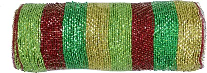 Multi//Lime 10 inch x 30 feet -YYCRAFT Metallic Deco Poly Mesh Ribbon for Decoration//Wreath Making Craft 10 Yards