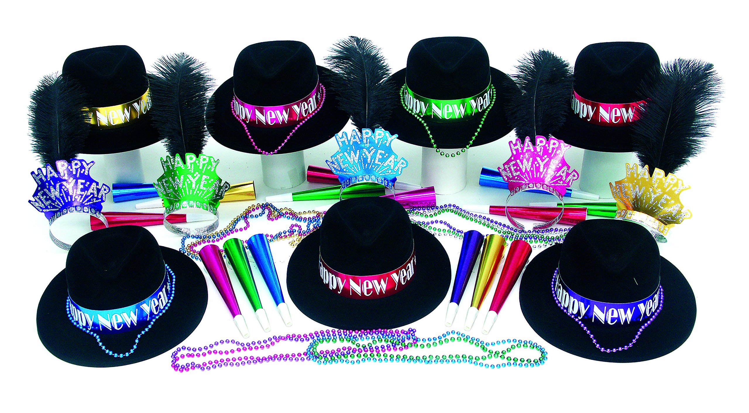Midnight Color New Years Party Kit for 50 by Shindigz
