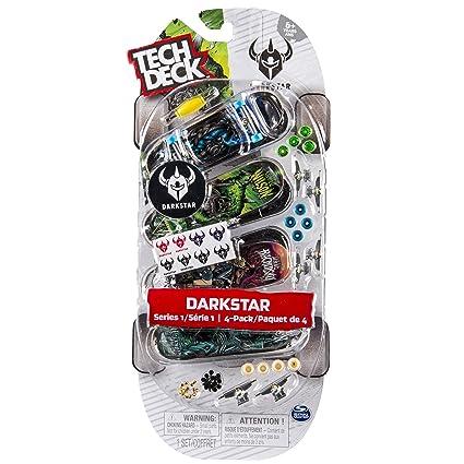 Tech deck - Pack de 4 skates realistas (Bizak 61923610), surtido, 1 unidad