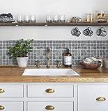 【 Dream Sticker 】モザイクタイルシール キッチン 洗面所 トイレの模様替えに最適のDIY 壁紙デコレーション CTB-6 ラスト Rust【 自作アートインテリア / ウォールステッカー 】貼り方説明書付属