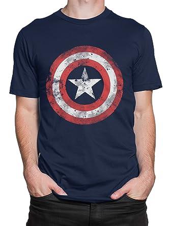 Marvel Avengers Mens Captain America Shield T-Shirt  Amazon.co.uk ... 1e3caf1c1