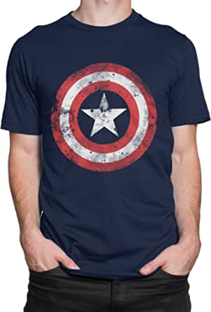 Marvel Camiseta para Hombre Captain America