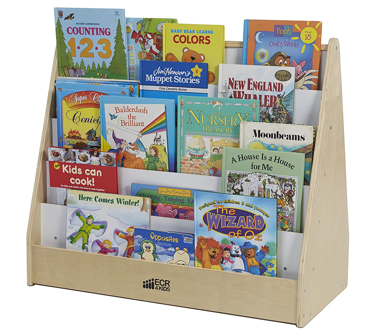 ecr4kids birch hardwood pic a book stand with dry