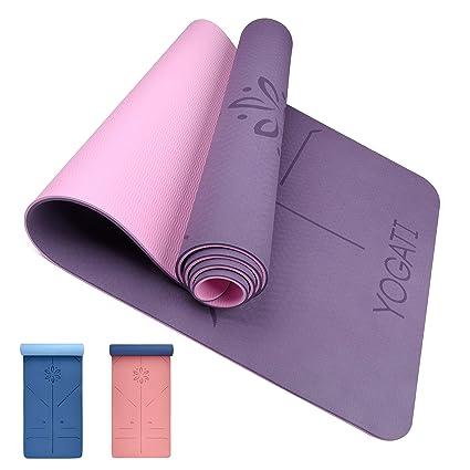 YOGATI - Alfombra de Yoga Antideslizante, Epais, ecológica ...
