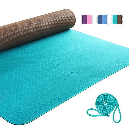 UMI. by Amazon - Yoga Mat Colchoneta Yoga Antideslizante Eco TPE Extra Suave con Double Capas