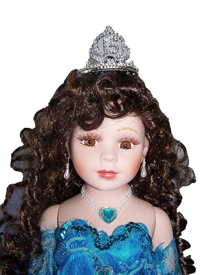 28/' Quinceanera Sweet 15 Spanish Porcelain Umbrella Dolls Turquoise QDoll28 ^