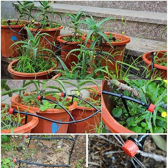 SunTop 15m Kit de riego por Goteo DIY Automático Micro Drip Irrigation System Planta Auto Riego de jardín de Invernadero Auto riego Kits: Amazon.es: Jardín