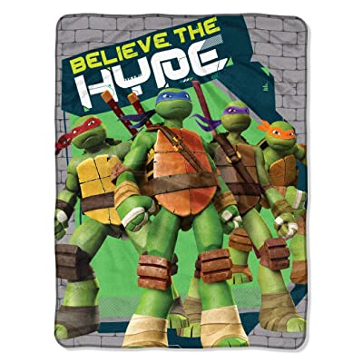 "Franco Teenage Mutant Ninja Turtles Throw (46""x60""): Home & Kitchen"