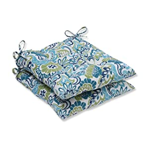 Pillow Perfect Outdoor/Indoor Zoe Mallard Wrought Iron Seat Cushion (Set of 2)