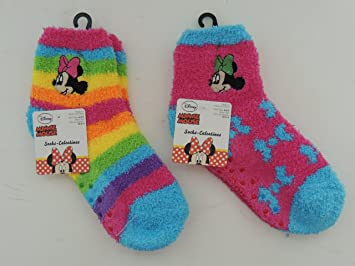 Disney Minnie Mouse Fluffy Socks 1pcs (Random)
